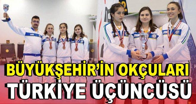 Büyükşehir'in okçuları Türkiye üçüncüsü oldu