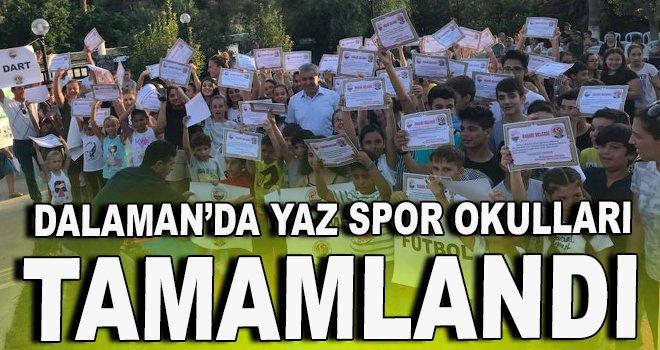 Dalaman'da Yaz Spor Okulları tamamlandı