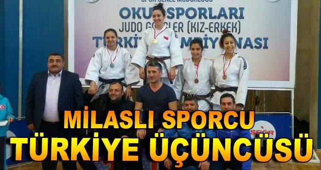Milaslı Sporcu Türkiye Üçüncüsü