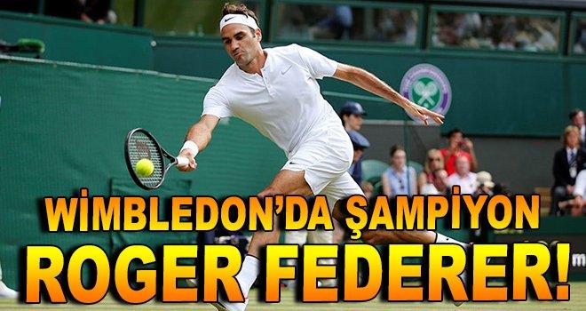Wimbledon'da şampiyon Roger Federer!